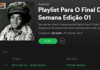 Playlist Para O Final De Semana Edição 01